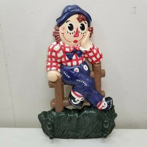 Raggedy Andy Hanging Plaque Coat Hanger Home Decor